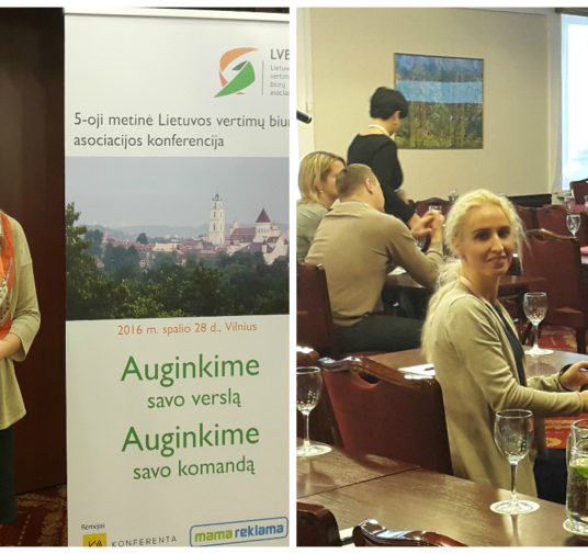 Verticia representatives participated in Lithuanian Translation Agencies Association Conference